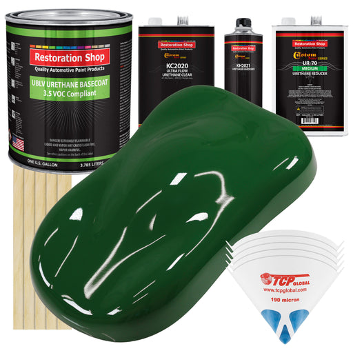 Speed Green - LOW VOC Urethane Basecoat with Premium Clearcoat Auto Paint - Complete Medium Gallon Paint Kit - Professional High Gloss Automotive Coating
