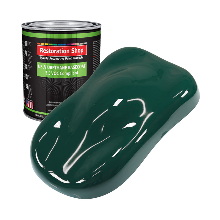 Woodland Green - LOW VOC Urethane Basecoat Auto Paint - Gallon Paint Color Only - Professional High Gloss Automotive, Car, Truck Refinish Coating