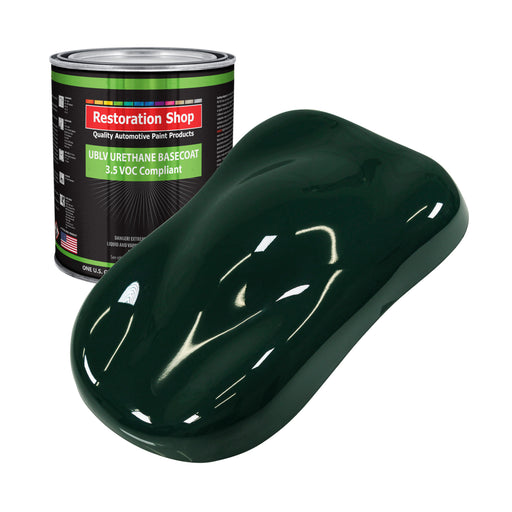 British Racing Green - LOW VOC Urethane Basecoat Auto Paint - Gallon Paint Color Only - Professional High Gloss Automotive, Car, Truck Refinish Coating