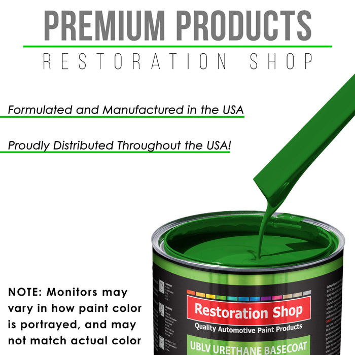 Vibrant Lime Green - LOW VOC Urethane Basecoat with Clearcoat Auto Paint - Complete Slow Gallon Paint Kit - Professional High Gloss Automotive Coating