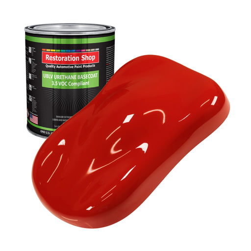 Swift Red - LOW VOC Urethane Basecoat Auto Paint - Gallon Paint Color Only - Professional High Gloss Automotive, Car, Truck Refinish Coating