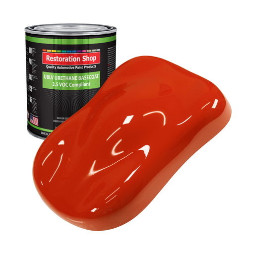 Monza Red - LOW VOC Urethane Basecoat Auto Paint - Gallon Paint Color Only - Professional High Gloss Automotive, Car, Truck Refinish Coating