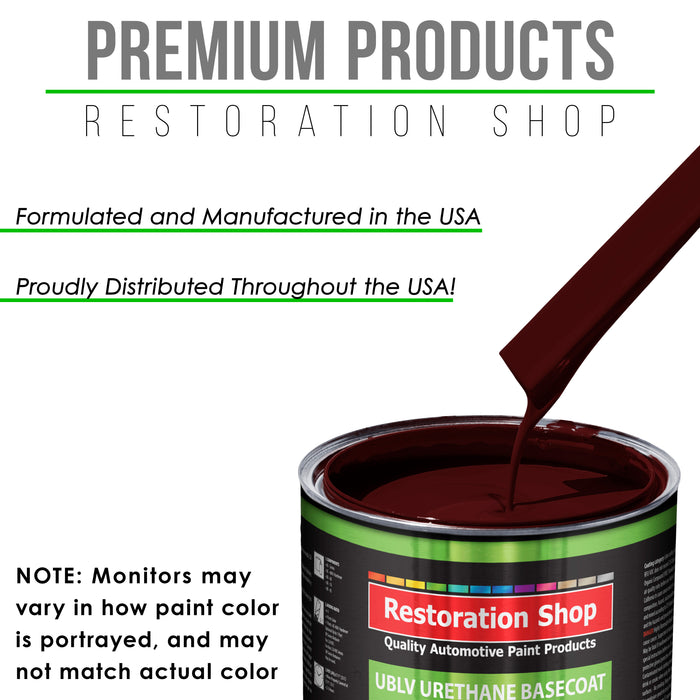 Carmine Red - LOW VOC Urethane Basecoat with Clearcoat Auto Paint - Complete Medium Gallon Paint Kit - Professional High Gloss Automotive Coating