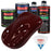 Carmine Red - LOW VOC Urethane Basecoat with Clearcoat Auto Paint - Complete Medium Quart Paint Kit - Professional High Gloss Automotive Coating