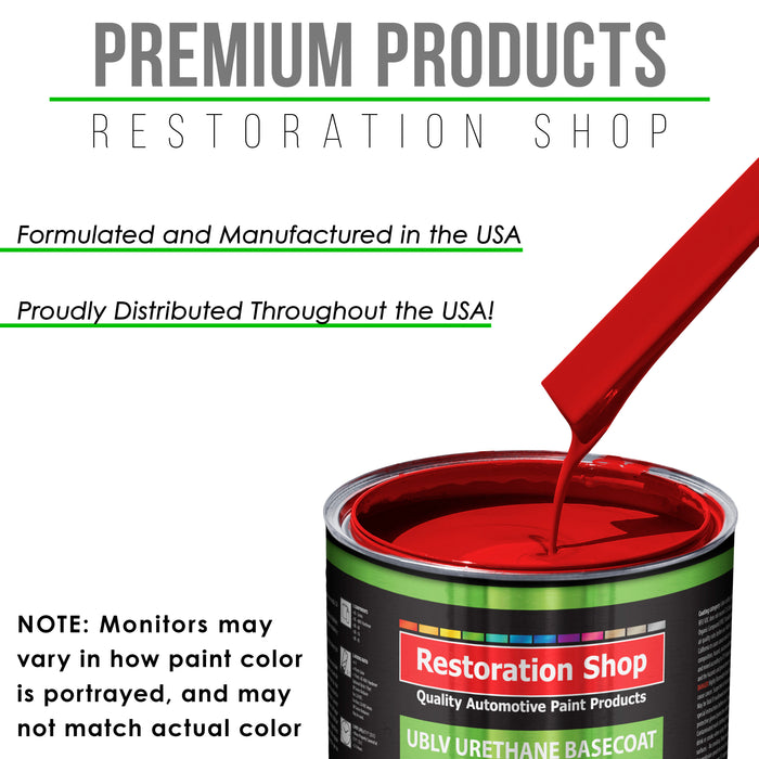 Rally Red - LOW VOC Urethane Basecoat Auto Paint - Gallon Paint Color Only - Professional High Gloss Automotive, Car, Truck Refinish Coating