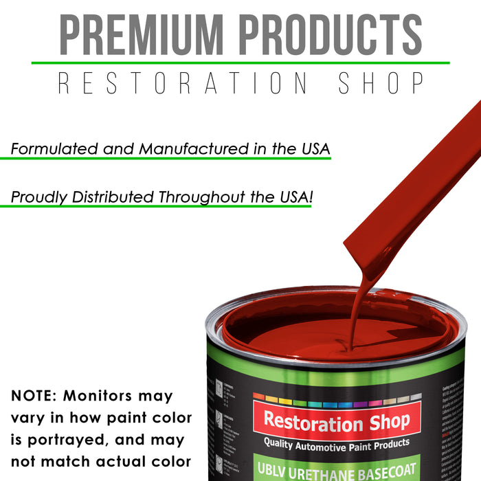 Regal Red - LOW VOC Urethane Basecoat with Clearcoat Auto Paint - Complete Medium Quart Paint Kit - Professional High Gloss Automotive Coating