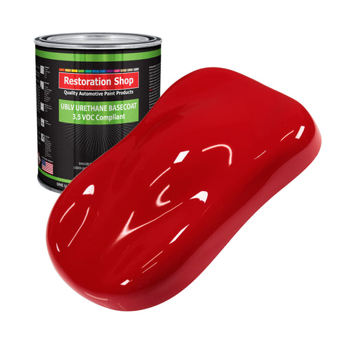 Reptile Red - LOW VOC Urethane Basecoat Auto Paint - Gallon Paint Color Only - Professional High Gloss Automotive, Car, Truck Refinish Coating