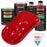 Reptile Red - LOW VOC Urethane Basecoat with Premium Clearcoat Auto Paint - Complete Medium Quart Paint Kit - Professional High Gloss Automotive Coating