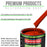 Pro Street Red - LOW VOC Urethane Basecoat with Clearcoat Auto Paint - Complete Fast Gallon Paint Kit - Professional High Gloss Automotive Coating