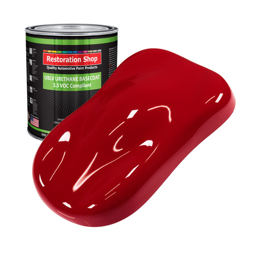 Quarter Mile Red - LOW VOC Urethane Basecoat Auto Paint - Gallon Paint Color Only - Professional High Gloss Automotive, Car, Truck Refinish Coating