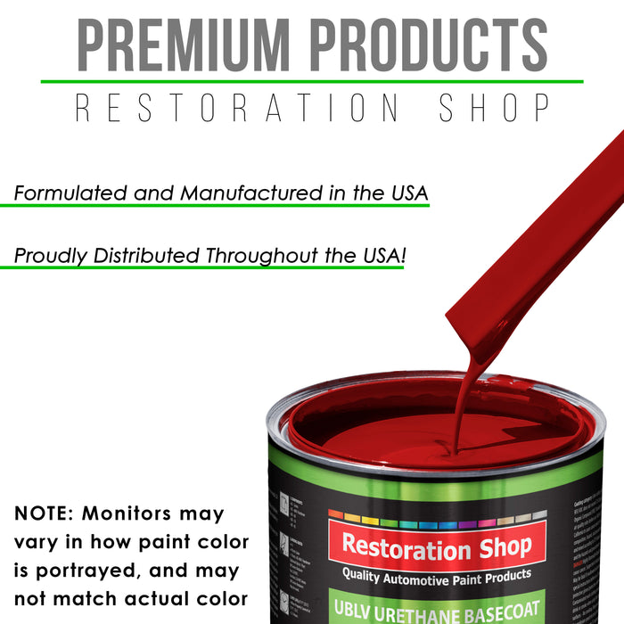 Quarter Mile Red - LOW VOC Urethane Basecoat with Clearcoat Auto Paint - Complete Slow Gallon Paint Kit - Professional High Gloss Automotive Coating
