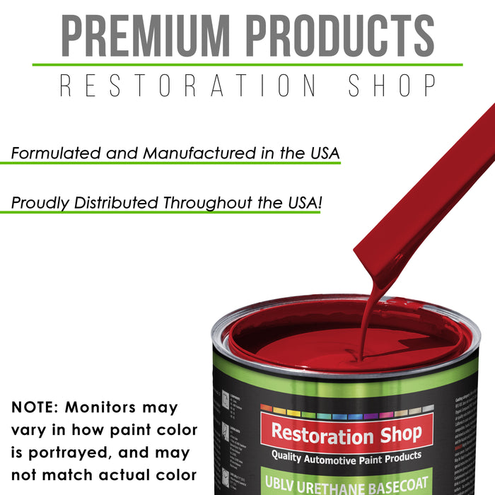 Jalapeno Bright Red - LOW VOC Urethane Basecoat with Clearcoat Auto Paint - Complete Medium Quart Paint Kit - Professional High Gloss Automotive Coating
