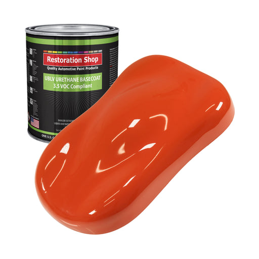 Speed Orange - LOW VOC Urethane Basecoat Auto Paint - Gallon Paint Color Only - Professional High Gloss Automotive, Car, Truck Refinish Coating