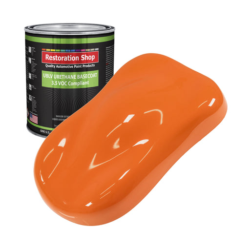 California Orange - LOW VOC Urethane Basecoat Auto Paint - Gallon Paint Color Only - Professional High Gloss Automotive, Car, Truck Refinish Coating