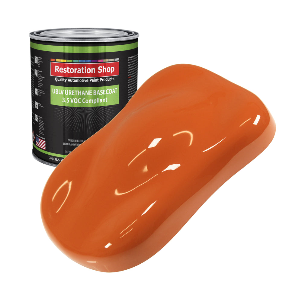 Sunset Orange - LOW VOC Urethane Basecoat Auto Paint - Gallon Paint Color Only - Professional High Gloss Automotive, Car, Truck Refinish Coating
