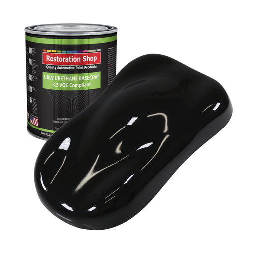 Jet Black (Gloss) - LOW VOC Urethane Basecoat Auto Paint - Gallon Paint Color Only - Professional High Gloss Automotive, Car, Truck Refinish Coating