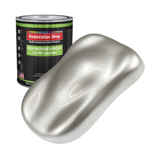 Sterling Silver Metallic - LOW VOC Urethane Basecoat Auto Paint - Gallon Paint Color Only - Professional High Gloss Automotive, Car, Truck Refinish Coating