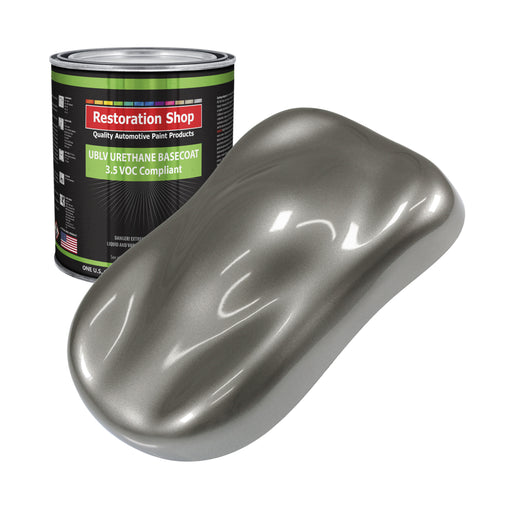 Graphite Gray Metallic - LOW VOC Urethane Basecoat Auto Paint - Gallon Paint Color Only - Professional High Gloss Automotive, Car, Truck Refinish Coating