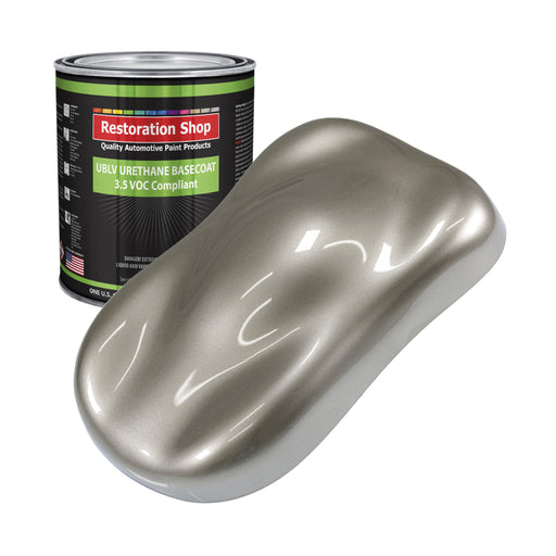 Warm Gray Metallic - LOW VOC Urethane Basecoat Auto Paint - Gallon Paint Color Only - Professional High Gloss Automotive, Car, Truck Refinish Coating