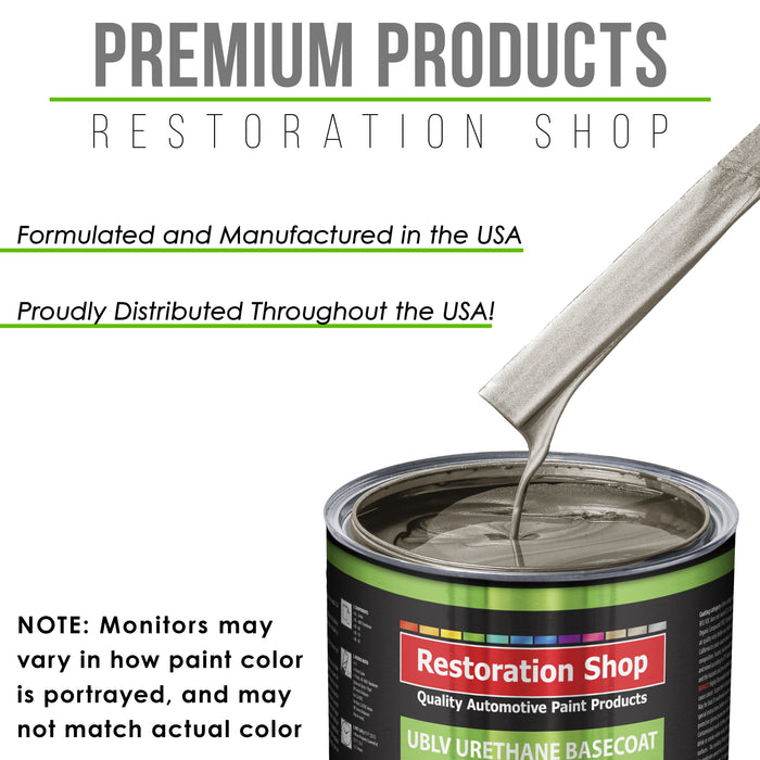 Warm Gray Metallic - LOW VOC Urethane Basecoat Auto Paint - Quart Paint Color Only - Professional High Gloss Automotive Coating