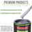 Cool Gray Metallic - LOW VOC Urethane Basecoat with Premium Clearcoat Auto Paint - Complete Medium Quart Paint Kit - Professional High Gloss Automotive Coating