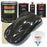 Black Metallic - LOW VOC Urethane Basecoat with Premium Clearcoat Auto Paint - Complete Fast Gallon Paint Kit - Professional High Gloss Automotive Coating
