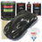 Black Metallic - LOW VOC Urethane Basecoat with Premium Clearcoat Auto Paint - Complete Slow Gallon Paint Kit - Professional High Gloss Automotive Coating