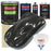 Black Metallic - LOW VOC Urethane Basecoat with Clearcoat Auto Paint - Complete Slow Gallon Paint Kit - Professional High Gloss Automotive Coating