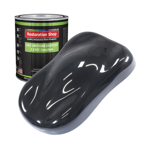 Phantom Black Pearl - LOW VOC Urethane Basecoat Auto Paint - Gallon Paint Color Only - Professional High Gloss Automotive, Car, Truck Refinish Coating