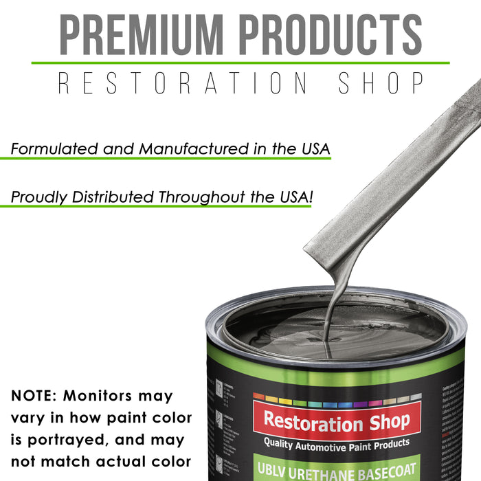 Chop Top Silver Metallic - LOW VOC Urethane Basecoat with Clearcoat Auto Paint - Complete Medium Gallon Paint Kit - Professional High Gloss Automotive Coating