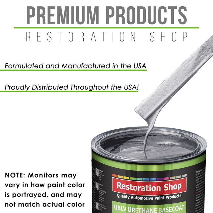 Iridium Silver Metallic - LOW VOC Urethane Basecoat with Premium Clearcoat Auto Paint - Complete Medium Quart Paint Kit - Professional High Gloss Automotive Coating