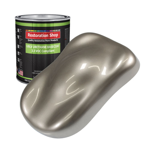 Arizona Bronze Metallic - LOW VOC Urethane Basecoat Auto Paint - Gallon Paint Color Only - Professional High Gloss Automotive, Car, Truck Refinish Coating