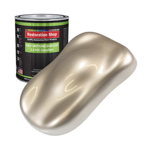 Cashmere Gold Metallic - LOW VOC Urethane Basecoat Auto Paint - Gallon Paint Color Only - Professional High Gloss Automotive, Car, Truck Refinish Coating