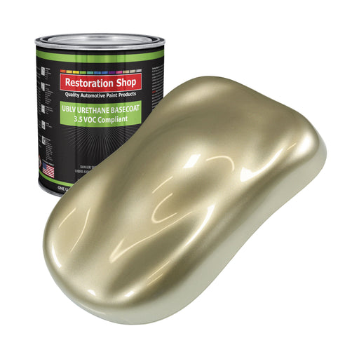 Champagne Gold Metallic - LOW VOC Urethane Basecoat Auto Paint - Gallon Paint Color Only - Professional High Gloss Automotive, Car, Truck Refinish Coating