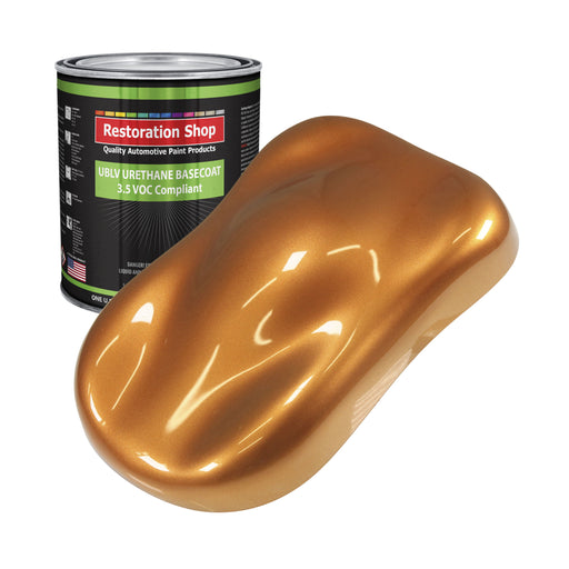 Sunburst Orange Metallic - LOW VOC Urethane Basecoat Auto Paint - Gallon Paint Color Only - Professional High Gloss Automotive, Car, Truck Refinish Coating