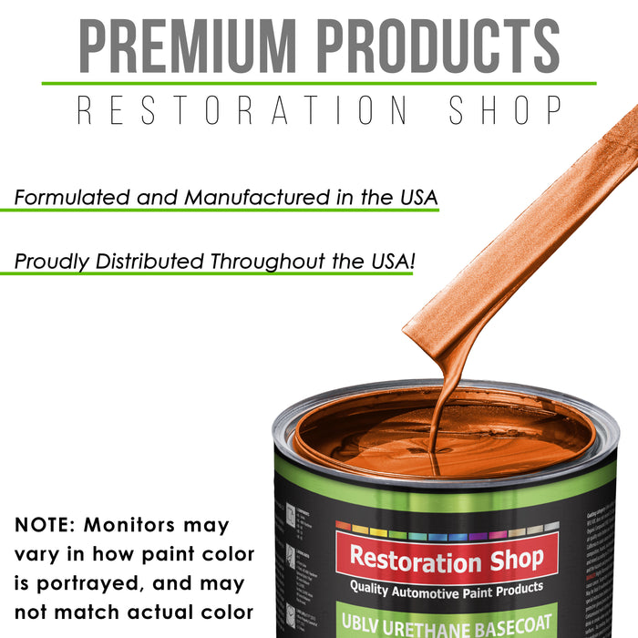 Inferno Orange Pearl Metallic - LOW VOC Urethane Basecoat with Clearcoat Auto Paint - Complete Medium Gallon Paint Kit - Professional High Gloss Automotive Coating