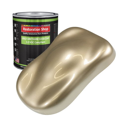 Driftwood Beige Metallic - LOW VOC Urethane Basecoat Auto Paint - Gallon Paint Color Only - Professional High Gloss Automotive, Car, Truck Refinish Coating