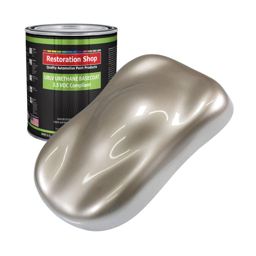 Mocha Frost Metallic - LOW VOC Urethane Basecoat Auto Paint - Gallon Paint Color Only - Professional High Gloss Automotive, Car, Truck Refinish Coating