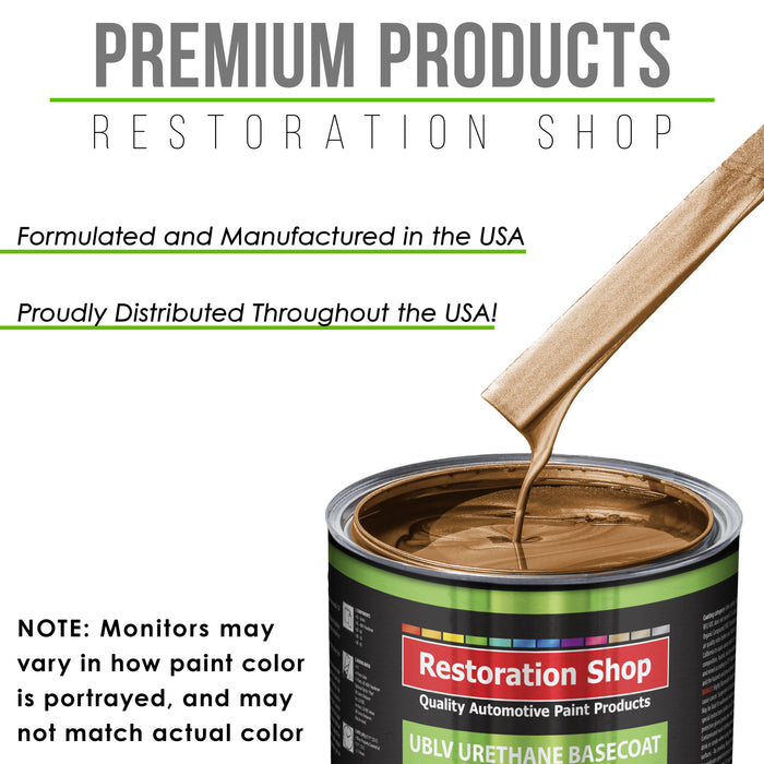 Ginger Metallic - LOW VOC Urethane Basecoat Auto Paint - Quart Paint Color Only - Professional High Gloss Automotive Coating