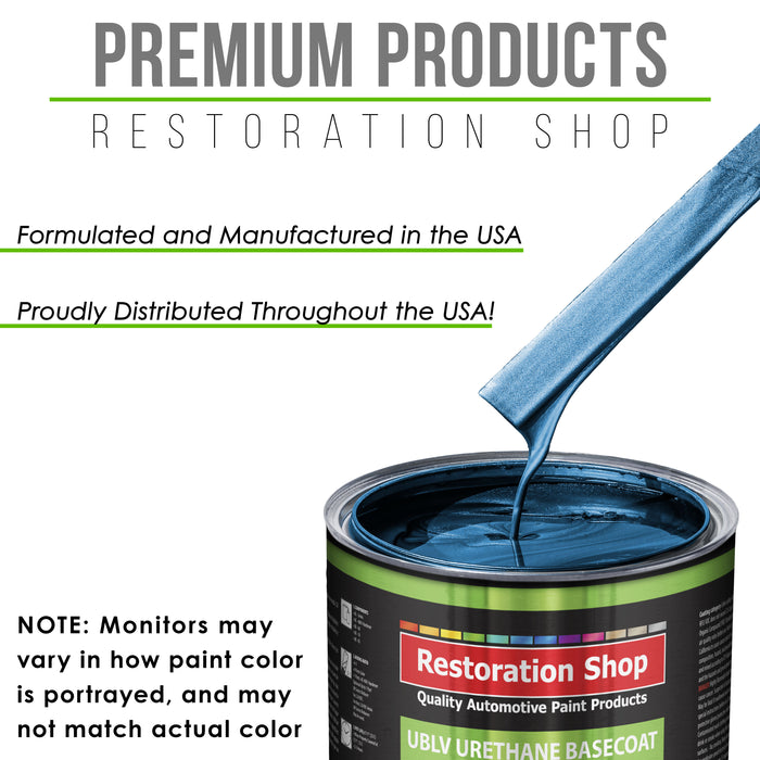 Cruise Night Blue Metallic - LOW VOC Urethane Basecoat Auto Paint - Quart Paint Color Only - Professional High Gloss Automotive Coating