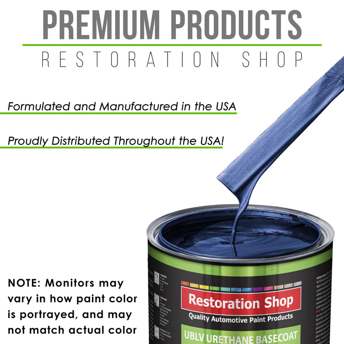 Daytona Blue Metallic - LOW VOC Urethane Basecoat with Clearcoat Auto Paint - Complete Fast Gallon Paint Kit - Professional High Gloss Automotive Coating