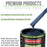 Dark Midnight Blue Pearl - LOW VOC Urethane Basecoat with Clearcoat Auto Paint - Complete Fast Gallon Paint Kit - Professional High Gloss Automotive Coating