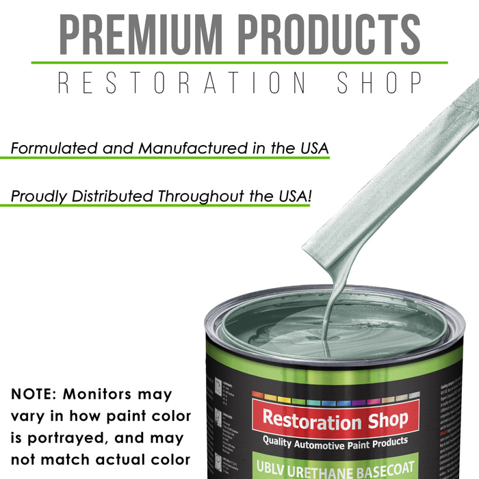 Frost Green Metallic - LOW VOC Urethane Basecoat Auto Paint - Quart Paint Color Only - Professional High Gloss Automotive Coating