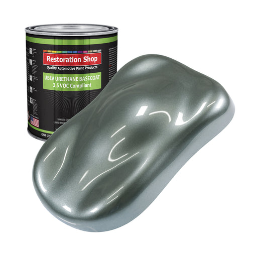 Steel Gray Metallic - LOW VOC Urethane Basecoat Auto Paint - Gallon Paint Color Only - Professional High Gloss Automotive, Car, Truck Refinish Coating