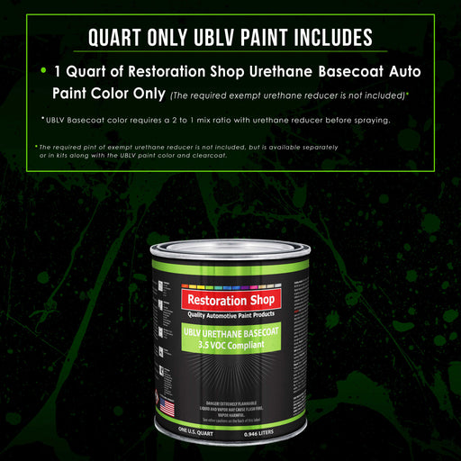 Teal Green Metallic - LOW VOC Urethane Basecoat Auto Paint - Quart Paint Color Only - Professional High Gloss Automotive Coating
