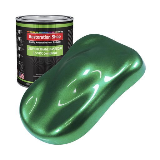 Emerald Green Metallic - LOW VOC Urethane Basecoat Auto Paint - Gallon Paint Color Only - Professional High Gloss Automotive, Car, Truck Refinish Coating