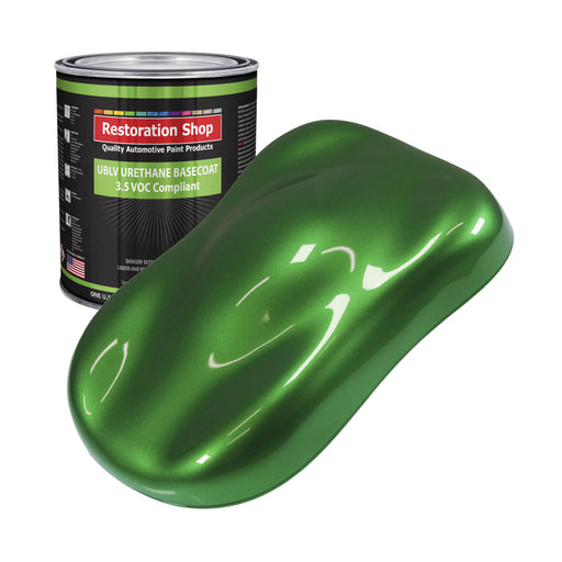 Gasser Green Metallic - LOW VOC Urethane Basecoat Auto Paint - Gallon Paint Color Only - Professional High Gloss Automotive, Car, Truck Refinish Coating