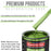 Synergy Green Metallic - LOW VOC Urethane Basecoat Auto Paint - Quart Paint Color Only - Professional High Gloss Automotive Coating