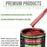 Firethorn Red Pearl - LOW VOC Urethane Basecoat with Clearcoat Auto Paint - Complete Medium Gallon Paint Kit - Professional High Gloss Automotive Coating