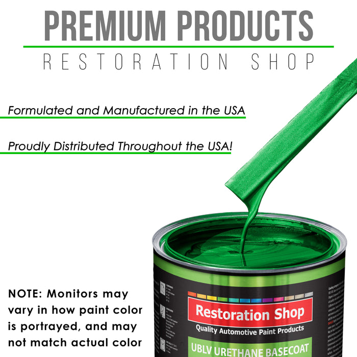 Firemist Green - LOW VOC Urethane Basecoat with Premium Clearcoat Auto Paint - Complete Slow Gallon Paint Kit - Professional High Gloss Automotive Coating